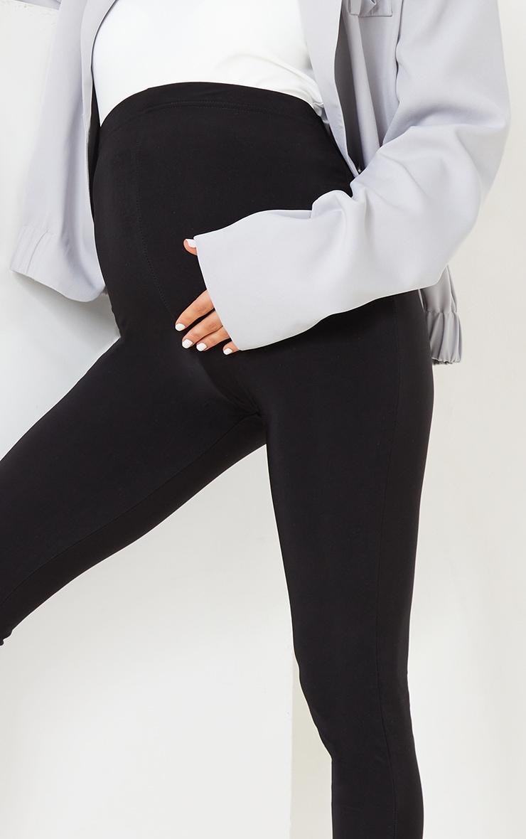 Maternity Black High Waist Slinky Leggings 4
