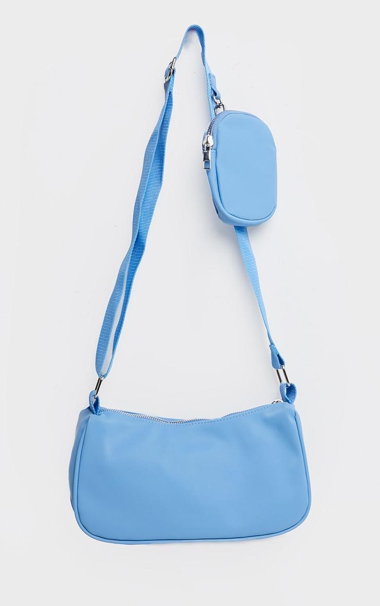 Baby Blue Multi Pocket Cross Body Bag 3