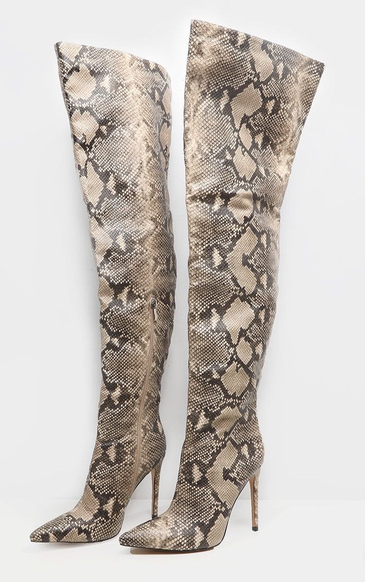 Snake Thigh High Boot 5