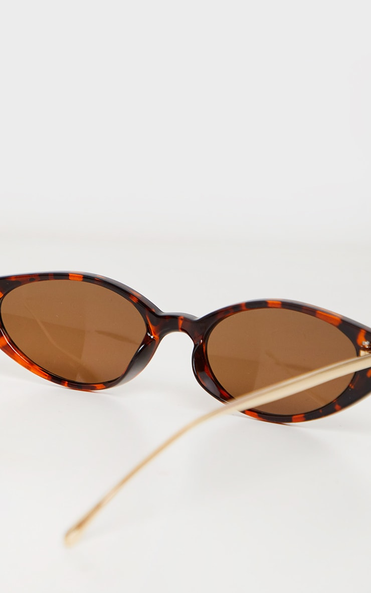 Brown Tortoiseshell Cat Eye Retro Frame Sunglasses 4