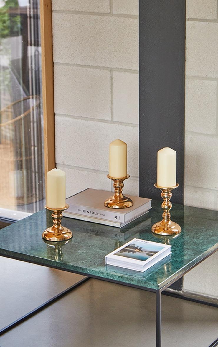 Gold Pillar Design Candle Holder 2