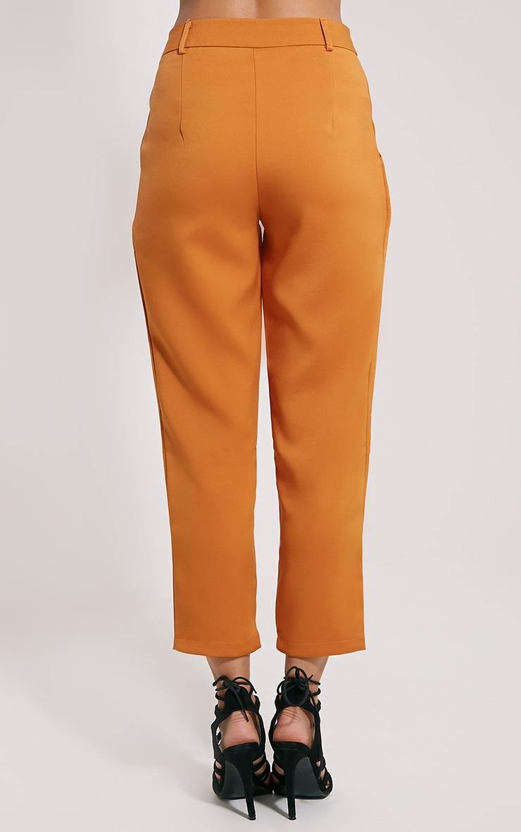 Matilda Burnt Orange Premium Tailored Trousers 4