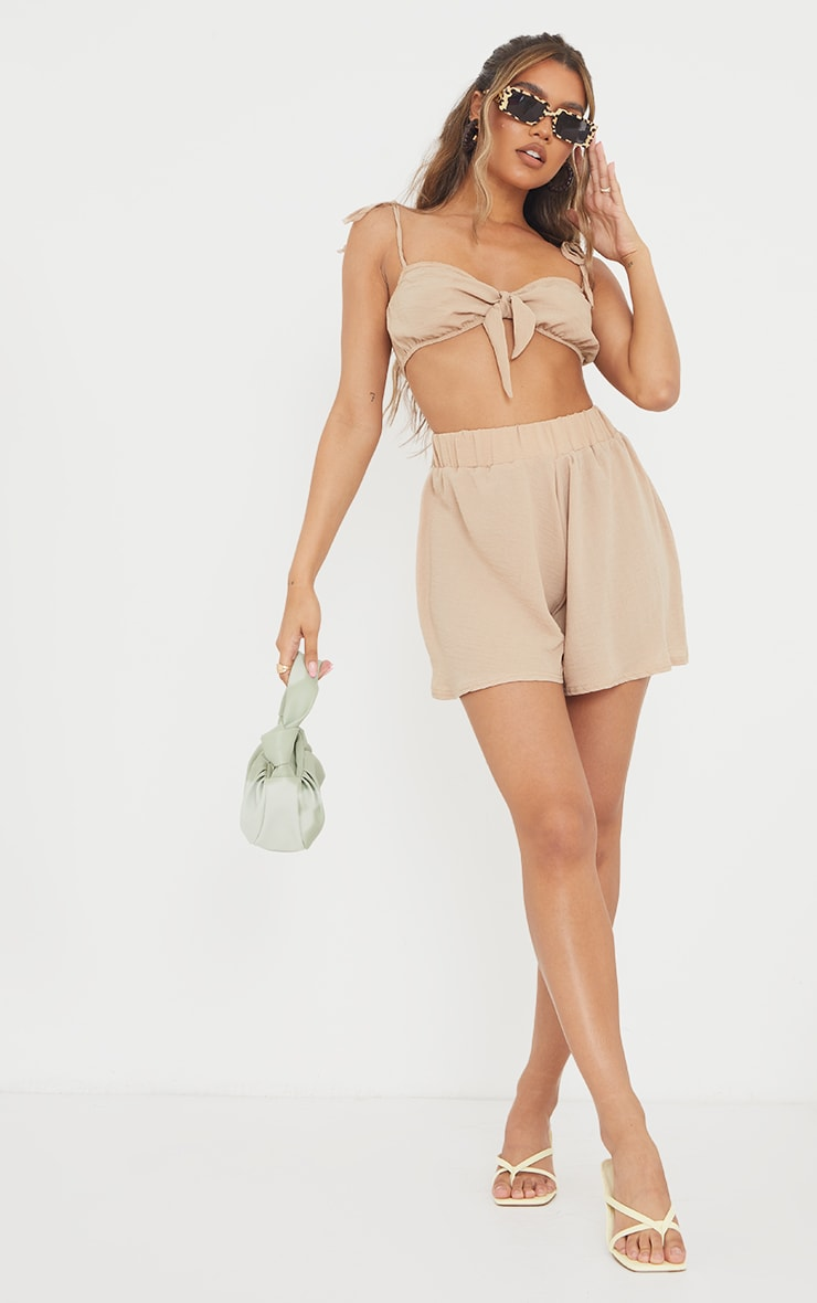 Stone Hammered Woven Floaty Shorts 1