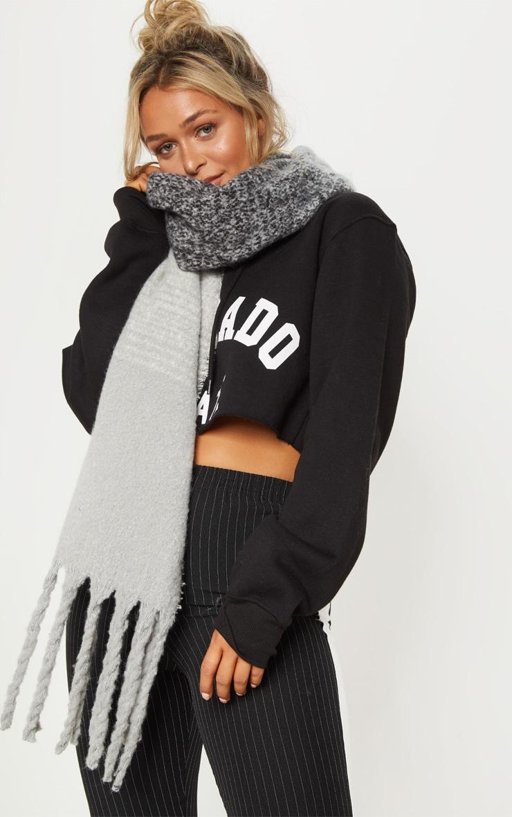 Grey Mini Blanket Scarf 1