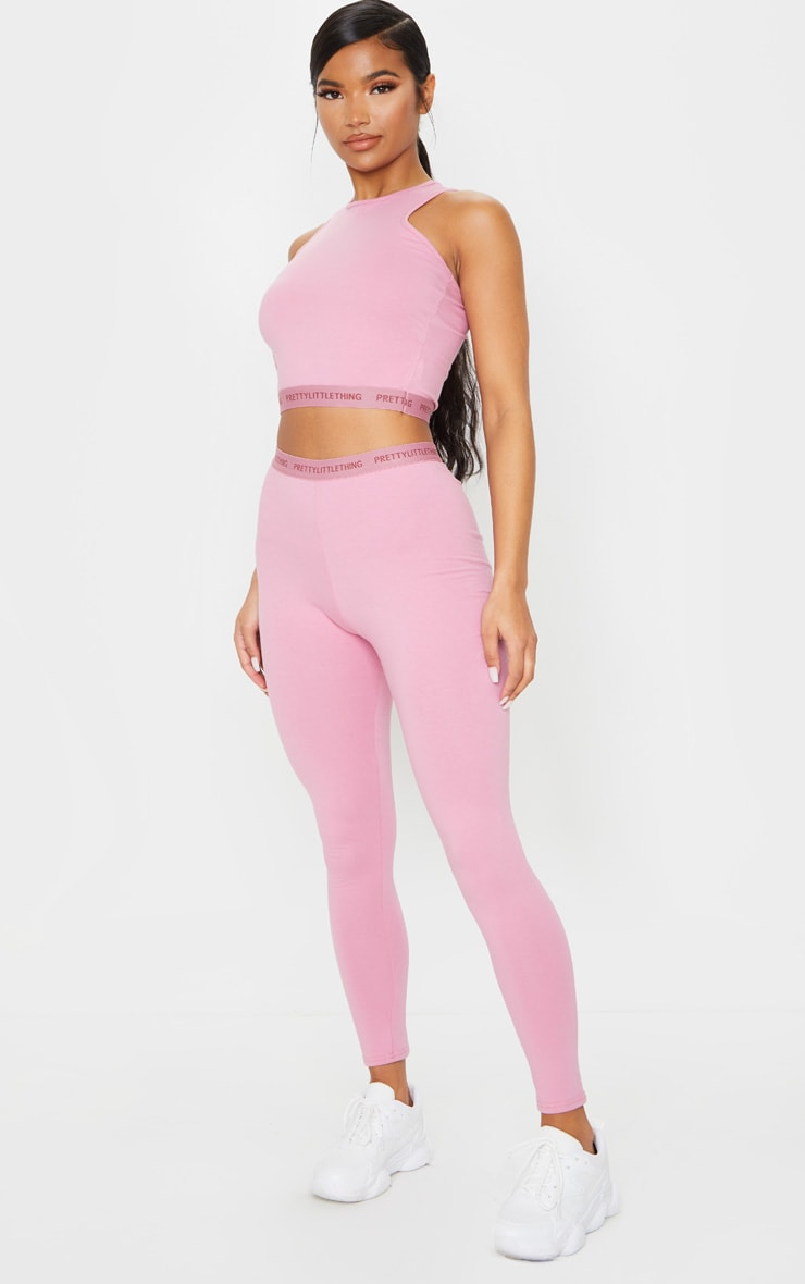 PRETTYLITTLETHING Dusty Pink Leggings 1