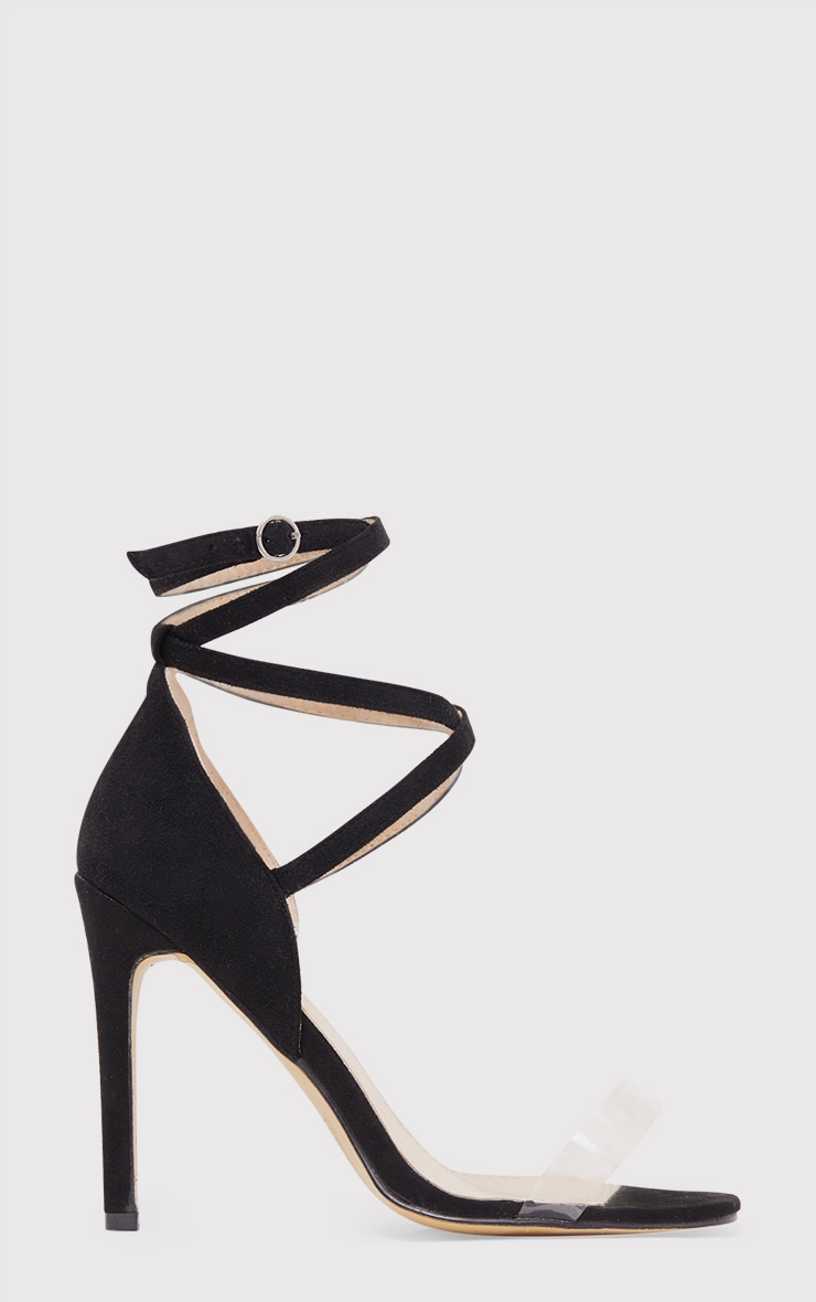 Renice Black Strappy Heeled Sandals 2