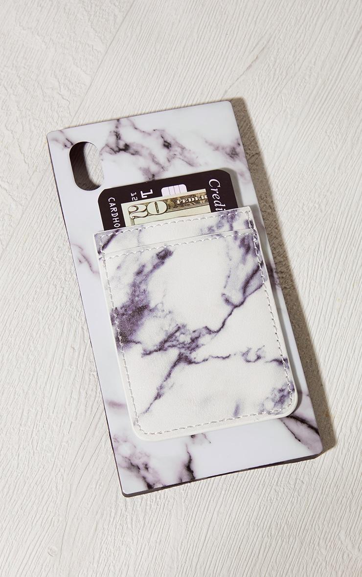 Idecoz White Marble Phone Pocket 3