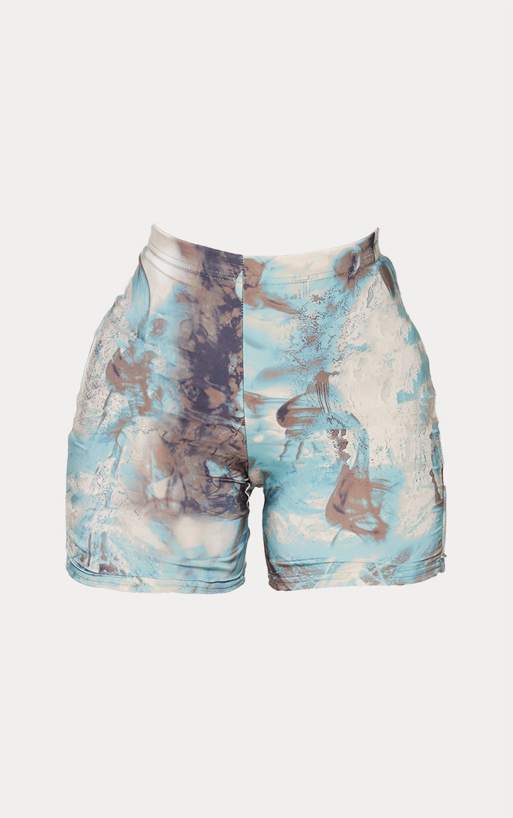 Shape Marble Print Slinky Bike Shorts 6