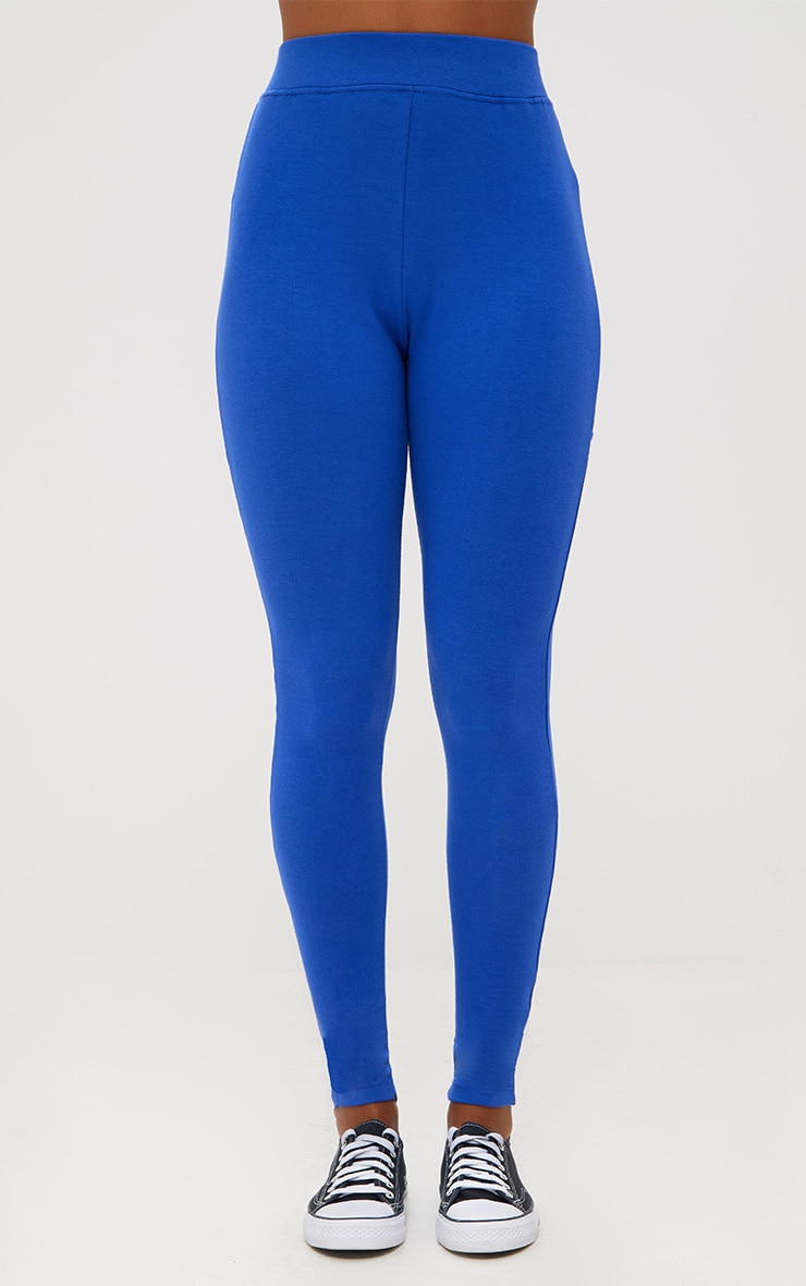 Cobalt Back Lace Up Skinny Trousers 2