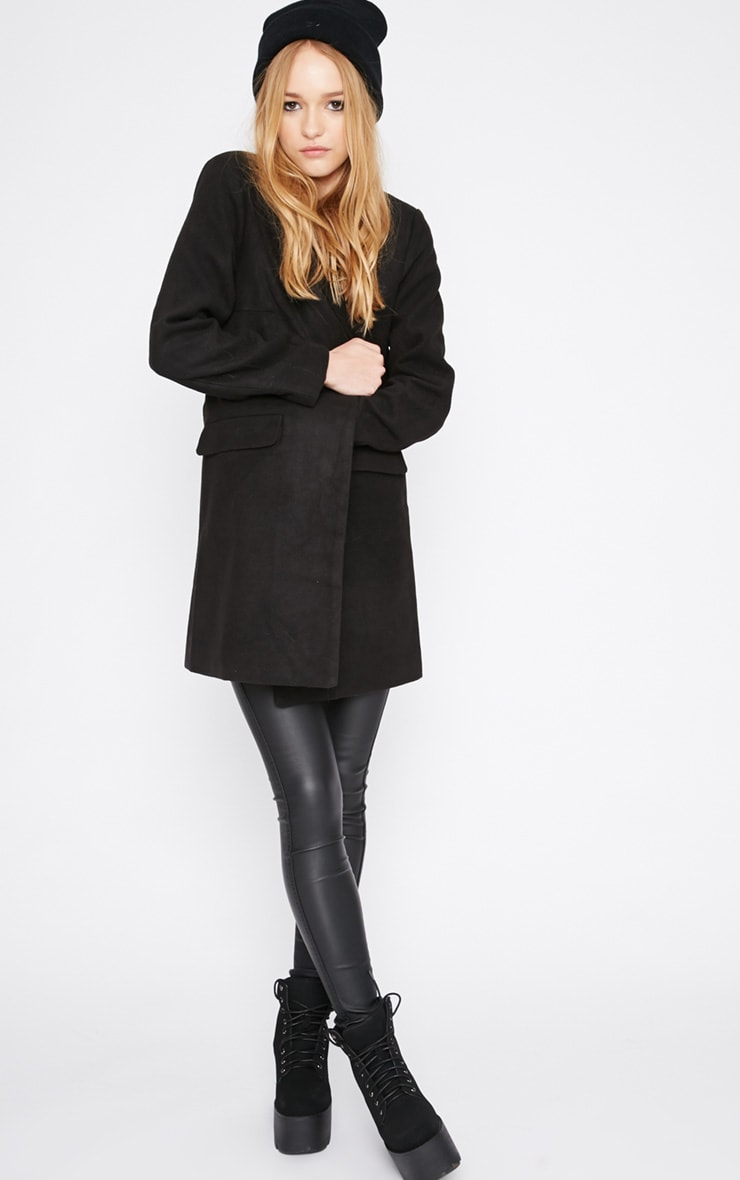 Emmie Black Boyfriend Coat  5