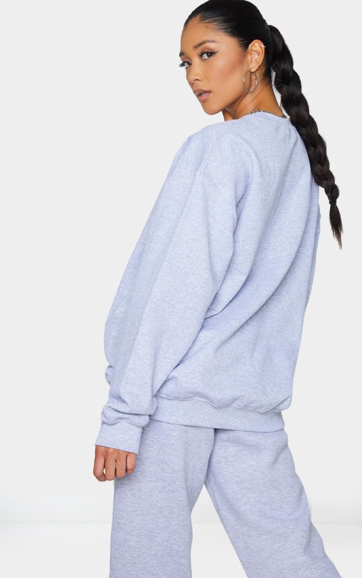Grey Weekend Chills Oversized Sweatshirt 2
