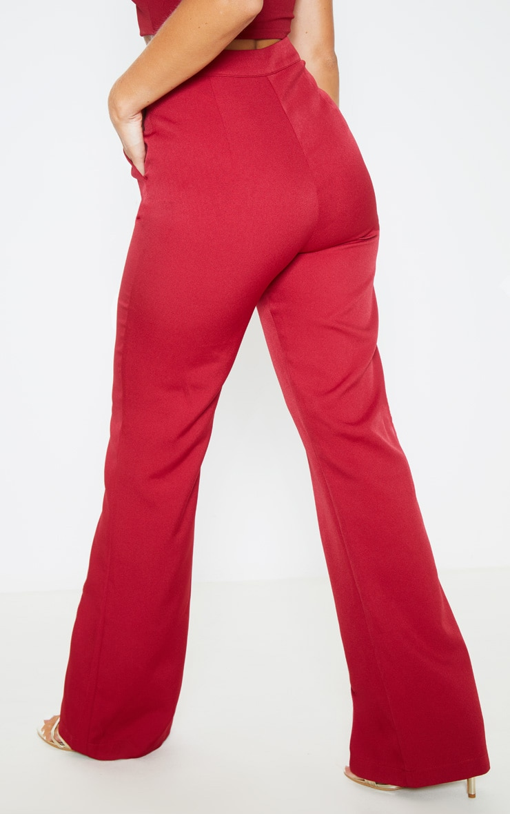 Wine Flared Trouser  4