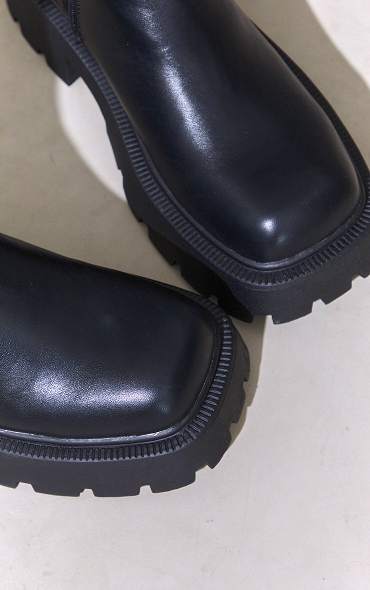 Black Chunky Chelsea Boots 4