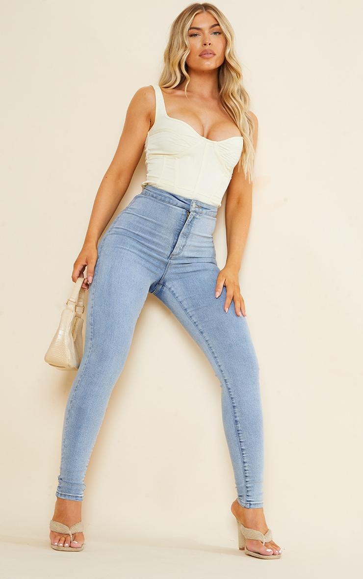 PRETTYLITTLETHING Vintage Wash Disco Skinny Jean 1