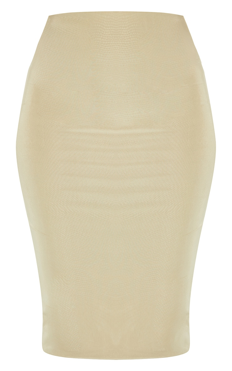 Sage Green Second Skin Slinky Midi Skirt 3