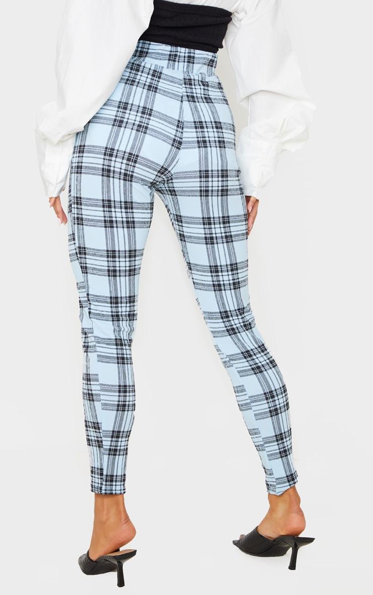 Blue Check Skinny Pants 4