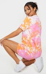 Orange Tie Dye T Shirt Dress 2