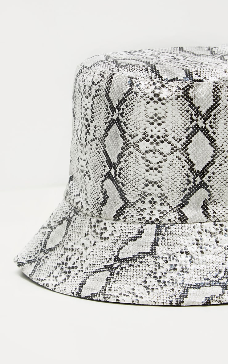 Grey Snake Bucket Hat 3