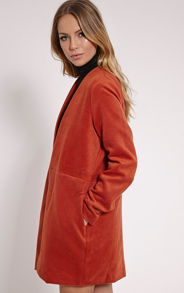 Louella Rust Double Oversized Coat 4