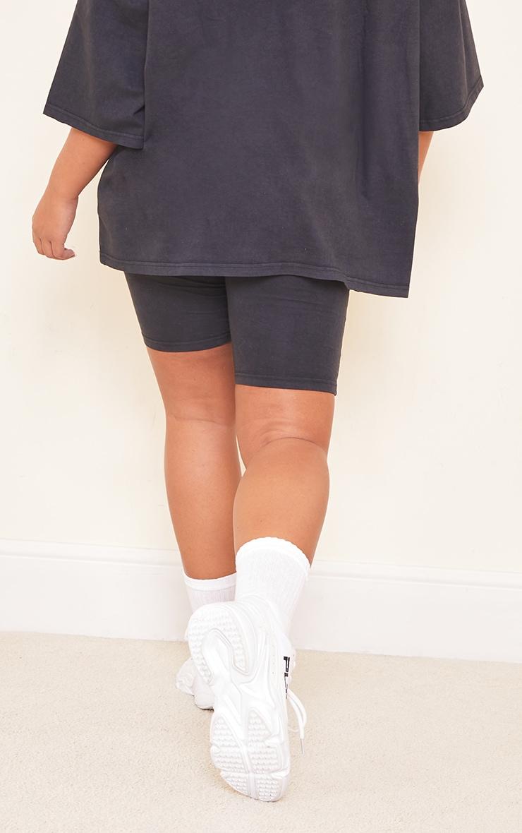 Maternity Acid Wash Grey Bump Support Cotton Cycle Shorts 3
