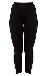 Black Side Stripe Trousers 3