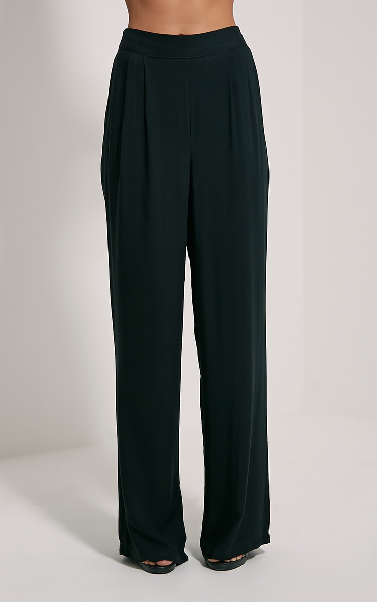 Posey Black Relax Fit Trousers 2