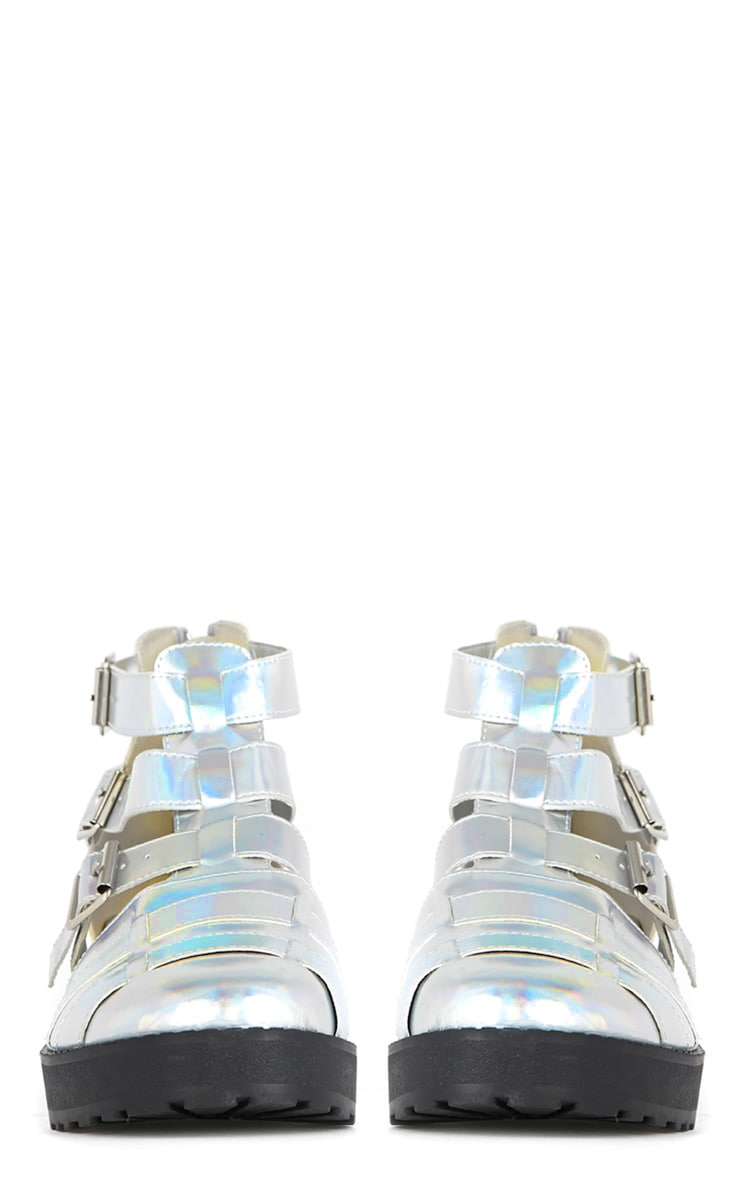 Amber Silver Holographic Sandals 3