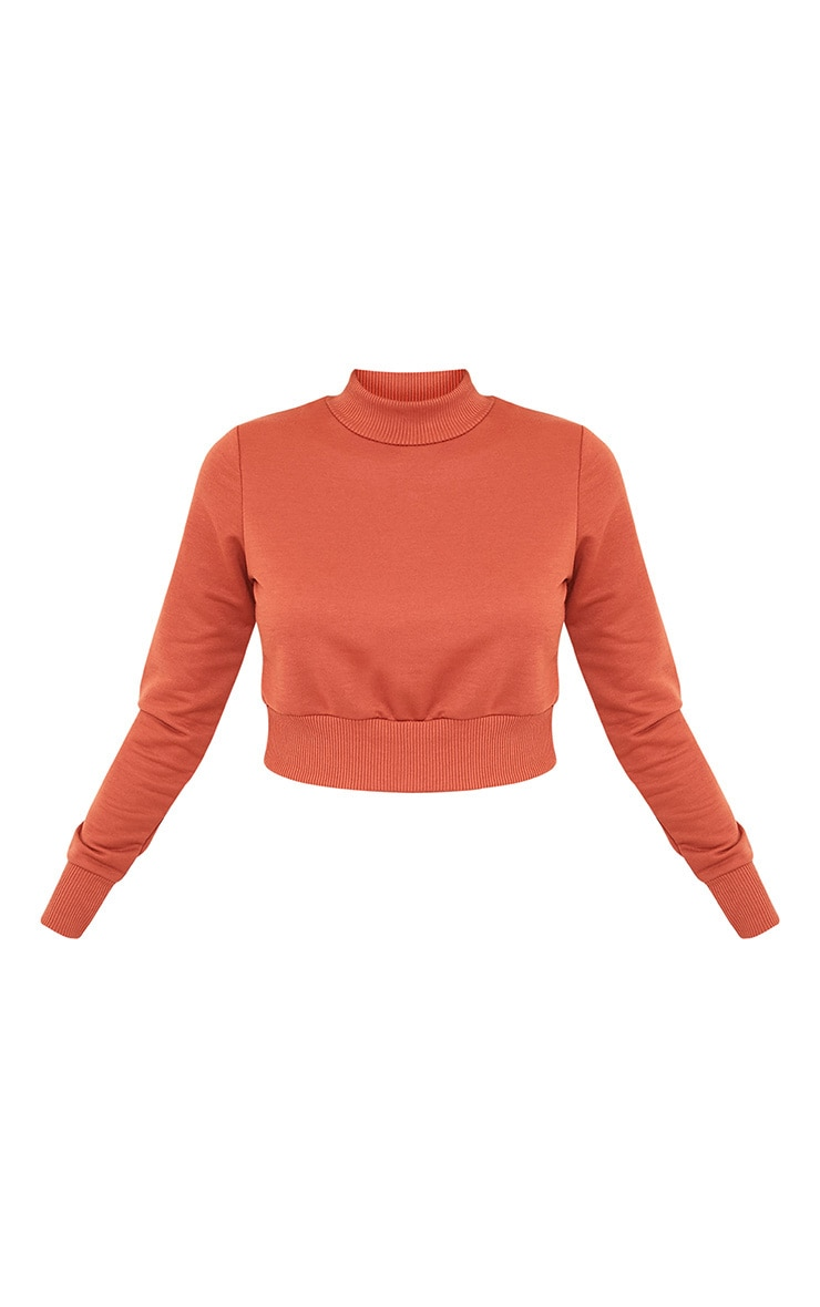 Emiliana Deep Peach Crop Sweatshirt 3