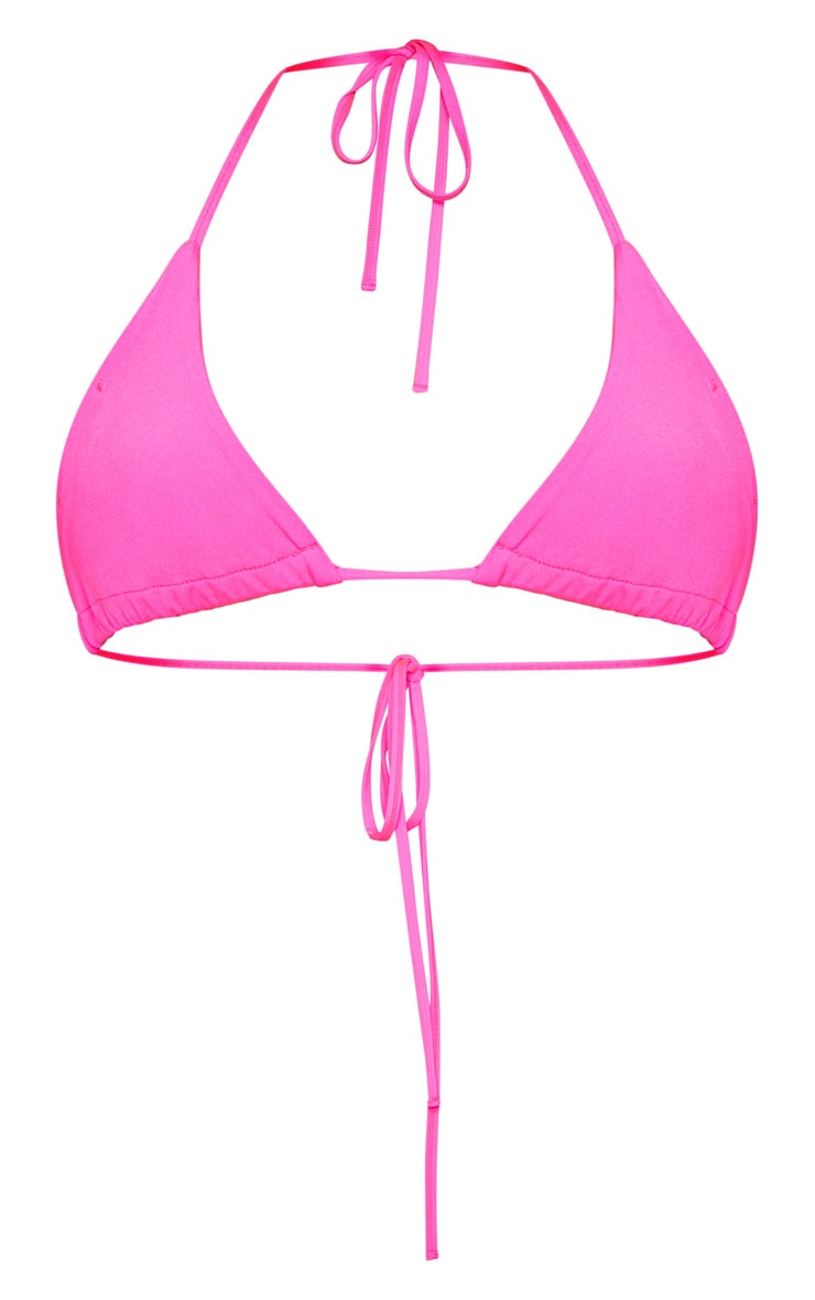 Pink Mix & Match Triangle Bikini Top 4