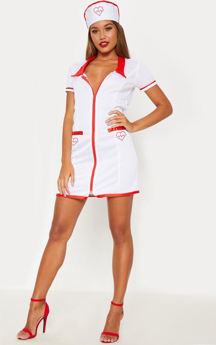 Sexy Nurse Halloween Fancy Dress Outfit 3