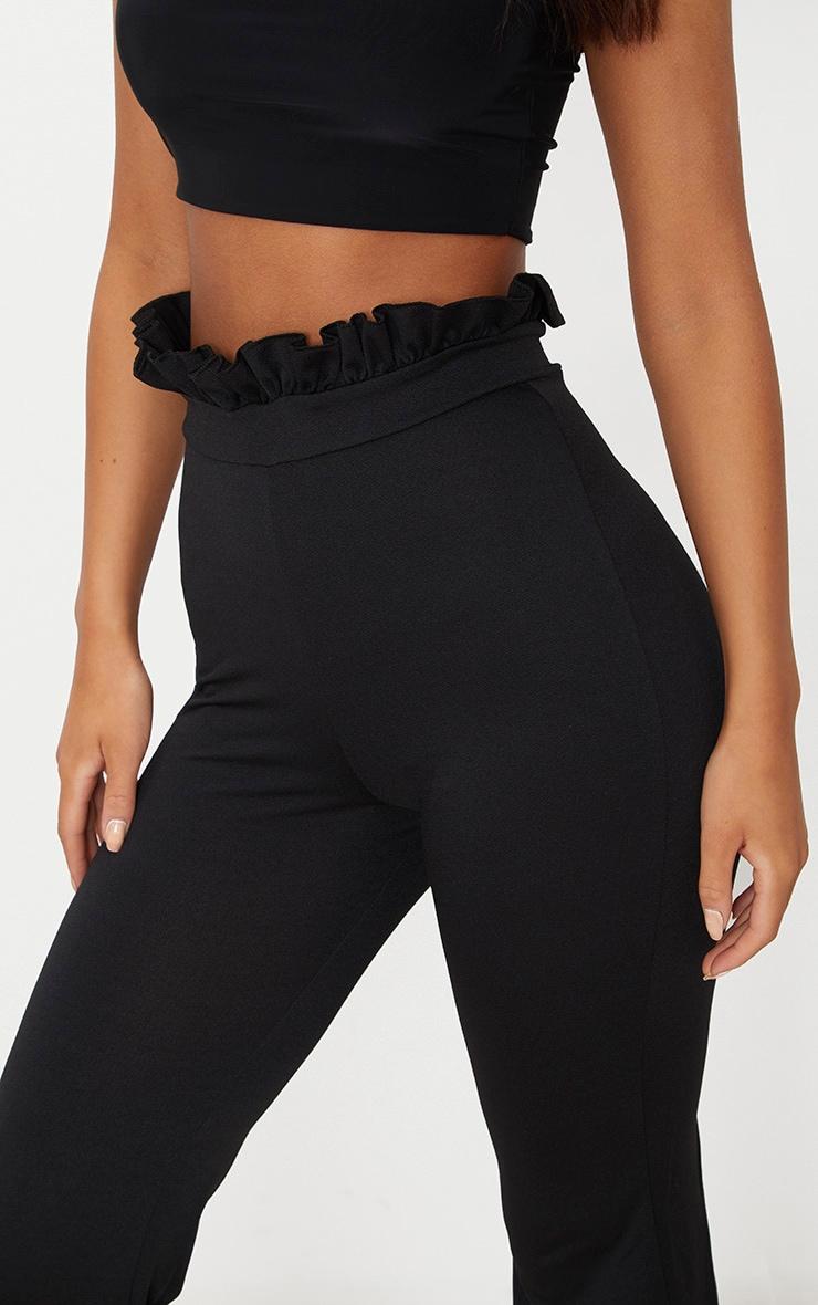Black Paperbag Waist Kick Flare Trousers 4