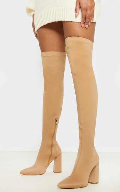 Nude High Point Lycra Thigh High Boot