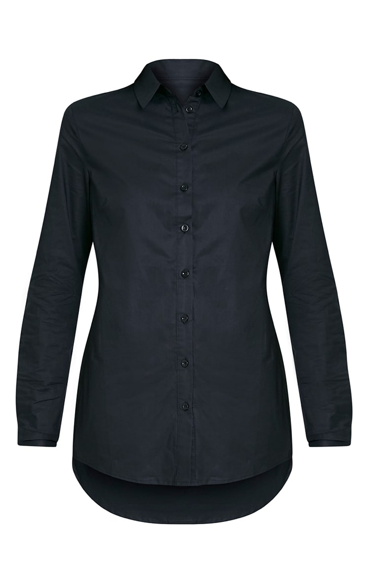 Analyn chemise à ourlet plongeant noire 3