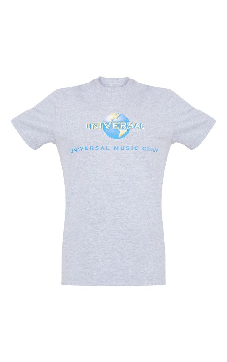 Grey Universal Slogan Oversized T Shirt 3