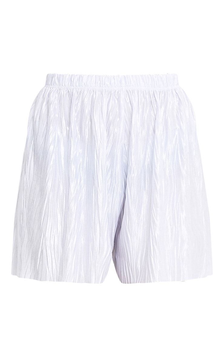 Maurelle Silver Pleated Shorts 3