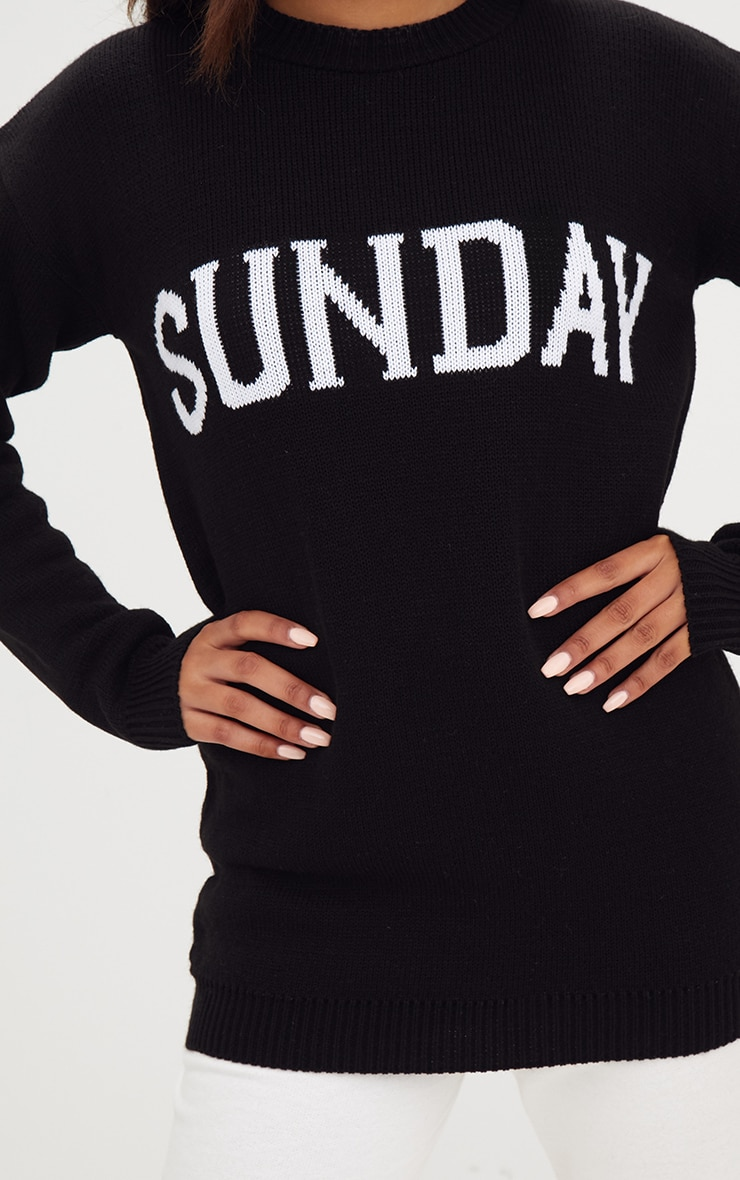 Black Sunday Slogan Jumper 5
