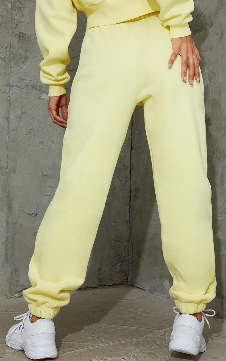 Yellow Pocket Cuffed Joggers 3