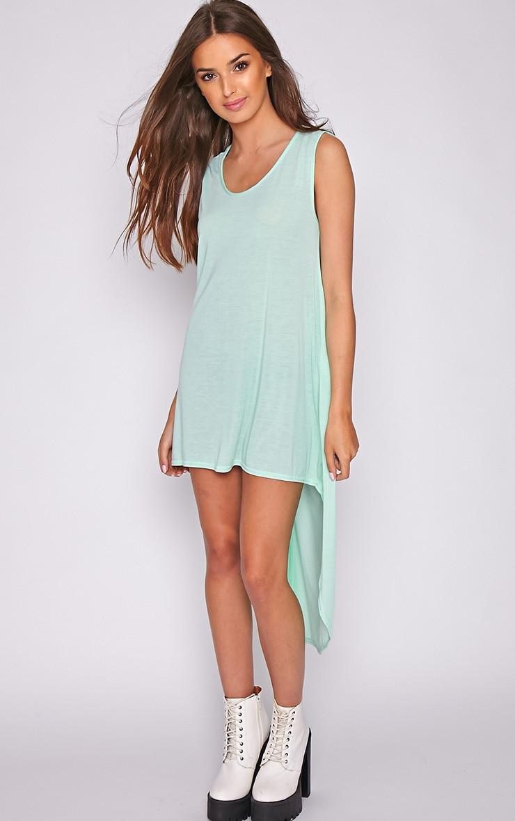Skylar Mint Drop Hem Jersey Dress 3