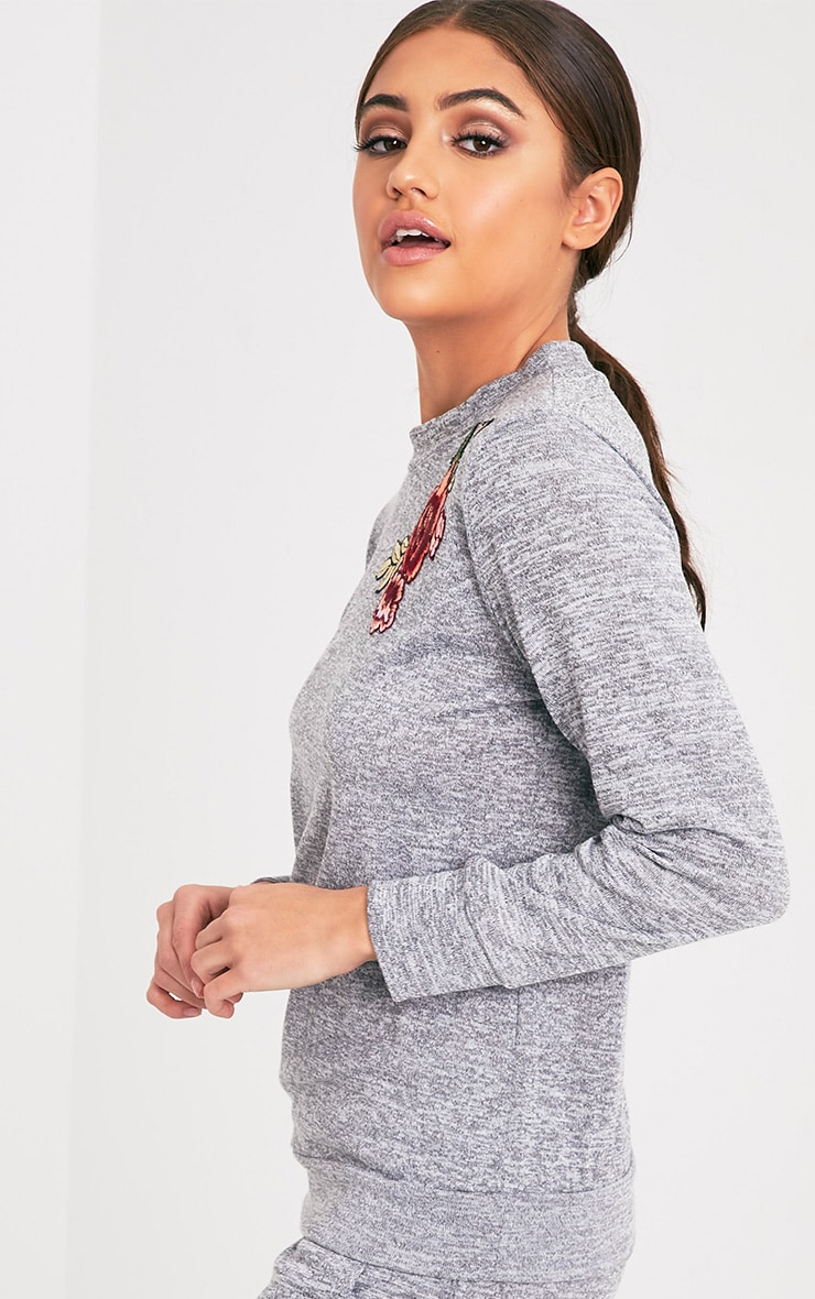 Cally Grey Applique Tracksuit Sweater 4