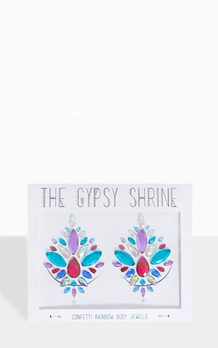 The Gypsy Shrine Confetti Rainbow Boob Jewels