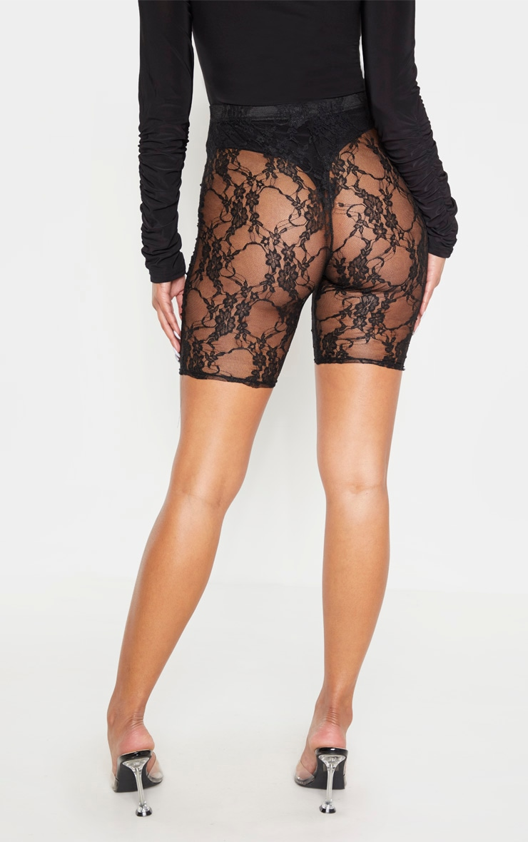 Black Lace Bike Shorts 3