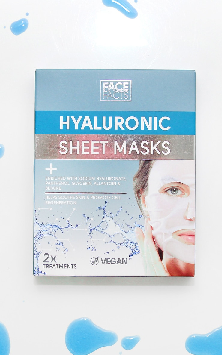 Face Facts Hyaluronic Sheet Mask 2 Pack 1