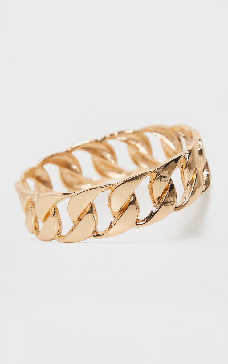 Gold Chain Bangle 3