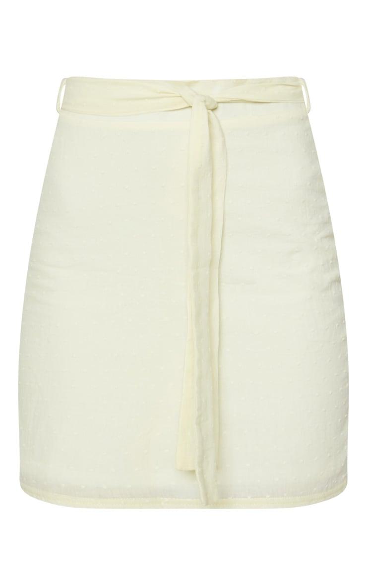 Lemon Textured Mini Skirt 3