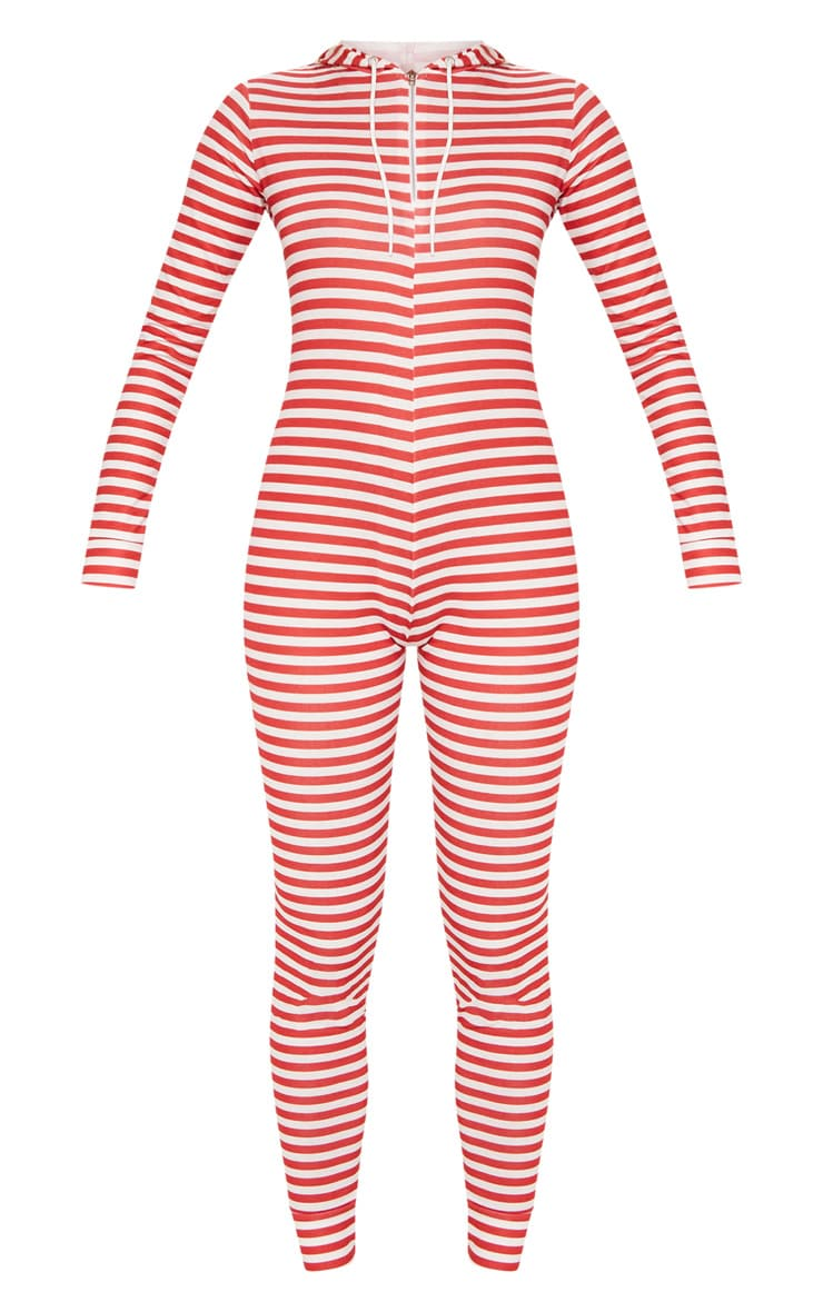 Red & White Stripe Onesie 3