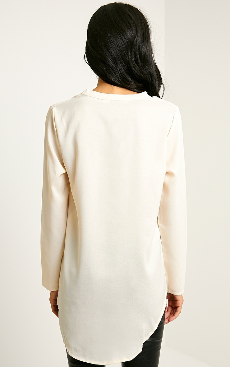 Caia Cream Oversized Shirt 2