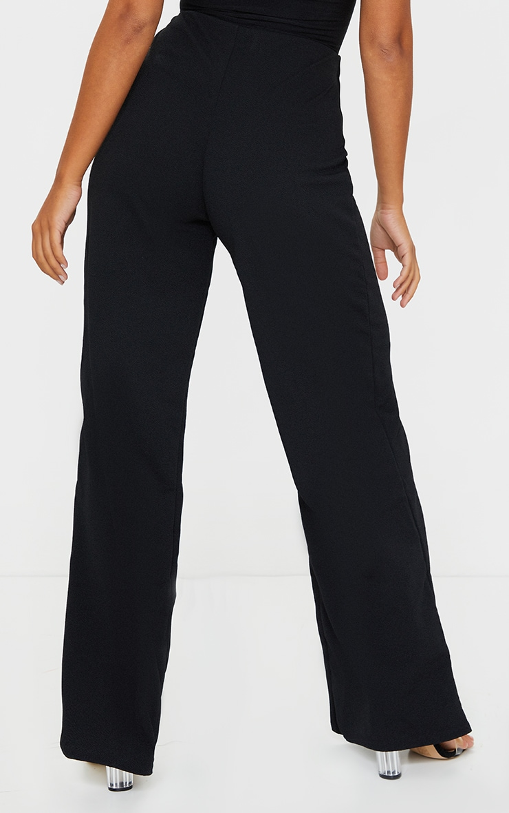 Petite Black Wide Leg Trousers 3