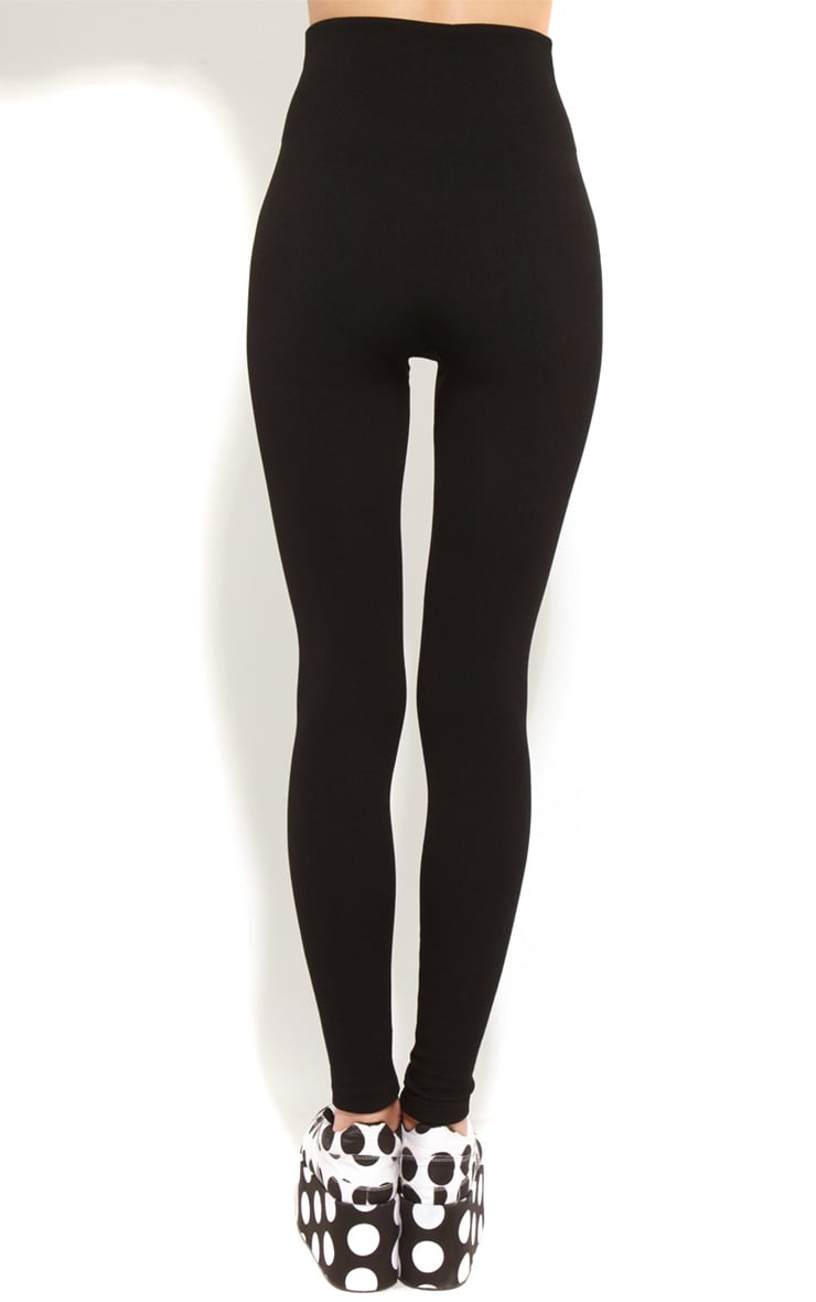 Ruby Black Jersey Leggings 2