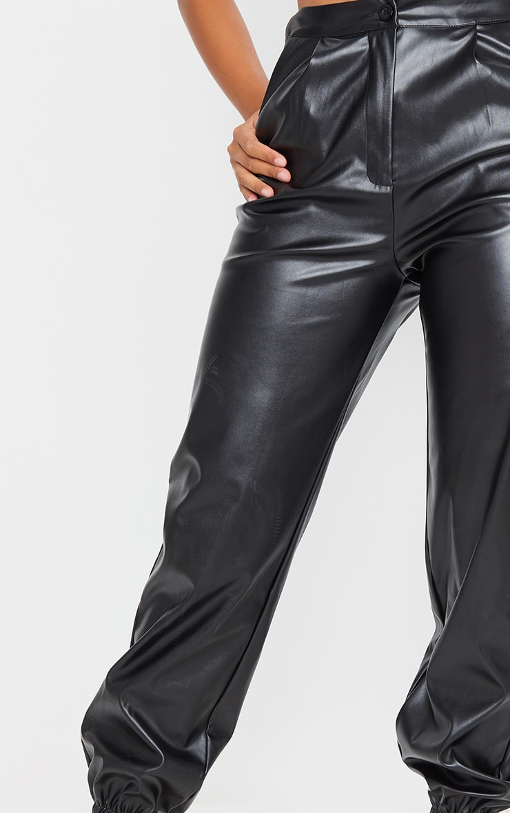 Shape Black Faux Leather Jogger 4