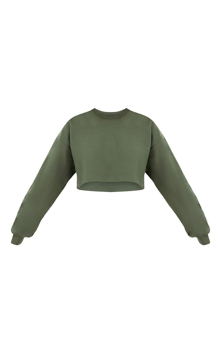 Khaki Ultimate Cropped Sweater 3